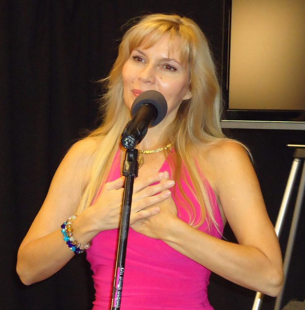Shekina singing at Super Natural Sedona